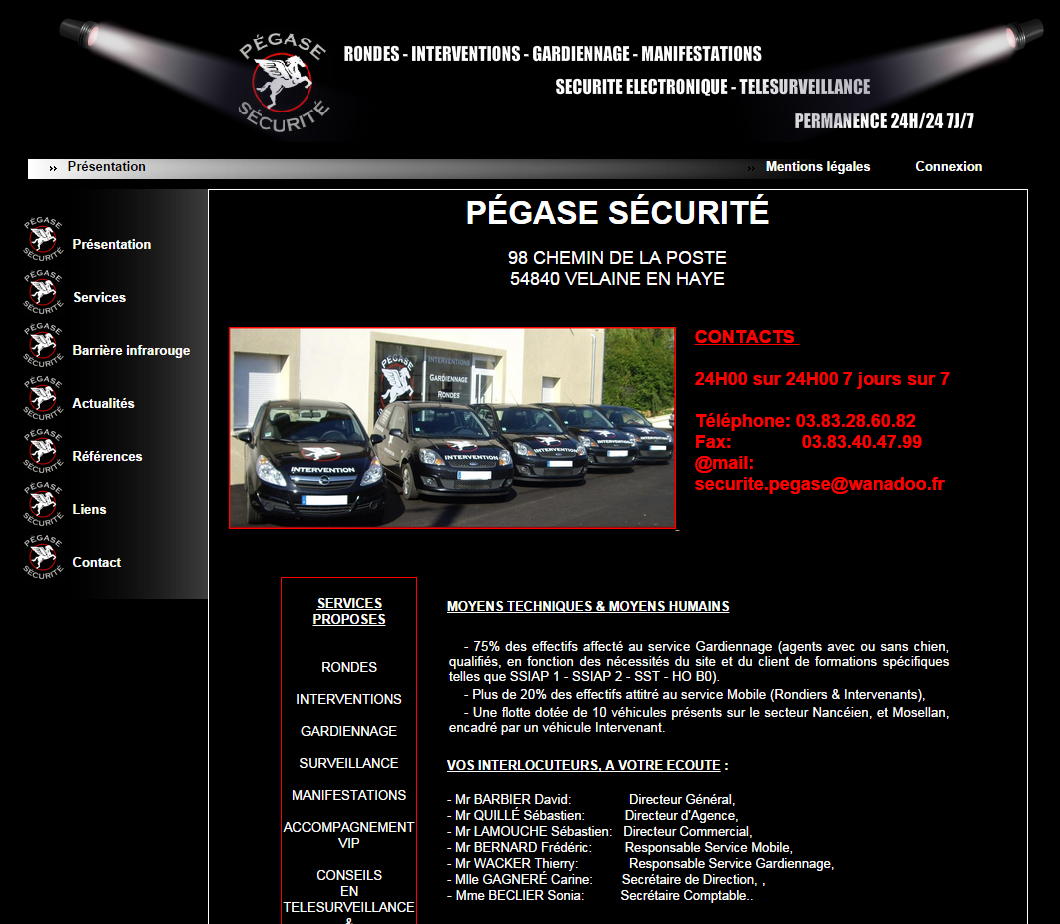 pegase securite