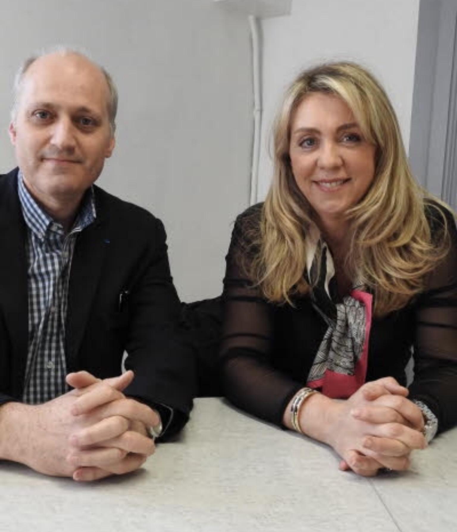 Christine Bertrand et Denis Renaud Présidente et vice-président du Medef 54